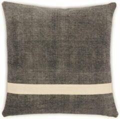 LIGNE PURE Mellow – kussen – katoen – eco – handmade - modern – boho - Grijs Wit – 45x45
