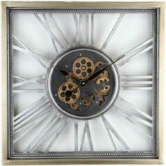 Zilveren Eliassen Open Wandklok Met Tandwielen Open Silver 53 cm | Wanddecoratie | Wandklokken | 53x53 | 1 Jaar Garantie