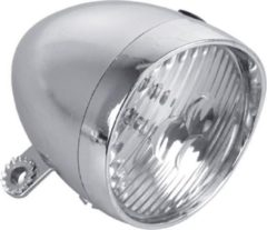 Zilveren Discountershop Fietskoplamp met Led lampjes Met Gratis Batterijen