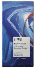 Vivani Chocolade melk superieur 37% Ecuador 100 Gram