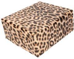 Bellatio Decorations 3x Inpakpapier/cadeaupapier panter/luipaard print 200 x 70 cm per rol - kadopapier / cadeaupapier