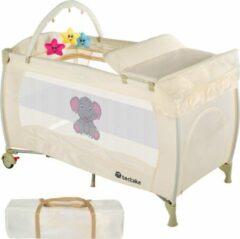 TecTake reisbed babybed campingbed reisbedje Dodo beige - 402204