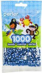 Blauwe Perler midi strijkkralen 1000 st Royal Blue Pearl Striped 15143