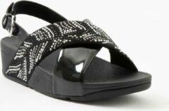 Fitflop - Damesschoenen - Lulu Crystal Feather Back-Strap Sandals - zwart - maat 40