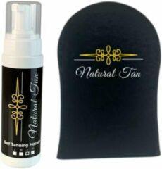 Natural an Natural Tan - Self Tanning Mousse incl. handschoen - Dark - 200ml