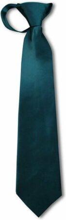 Afbeelding van Donkergroene Jessidress Luxe Kinder Stropdas Jongens Stropdassen 36-38 cm - Donker Groen