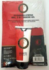 Rode Feyenoord gymtas + hair/body douchegel