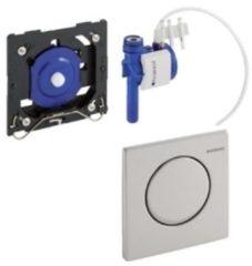 Zilveren Geberit HyTouch urinoir stuursysteem pneumatisch met bedieningsplaat Mambo RVS 116013FW1