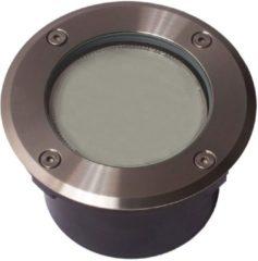 Roestvrijstalen KS Verlichting Grondspot RVS met GX53 Spaarlamp