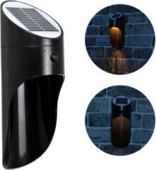 Zwarte O'DADDY O'DADDY Cursa buitenverlichting – tuinverlichting 90 lumen – wandlamp zonne energie - solar verlichting – bewegingsmelder / sensor met 3 standen – verlichting op zonne-energie – dag/nacht sensor – led lamp