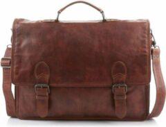 Bruine Bear Design Guus Leren Laptoptas - 15,4 inch - Cognac