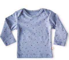 Little Label - baby - T-shirt - blauw, sterretjes - maat 56 - bio-katoen