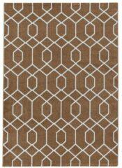 EFOR Impression Sweden Design Laagpolig Vloerkleed Brons / Koper- 200x290 CM