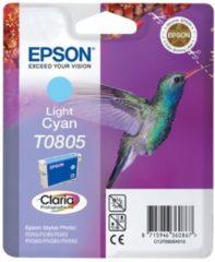 Blauwe Epson Hummingbird Singlepack Light Cyan T0805 Claria Photographic Ink