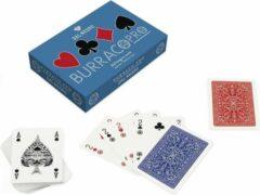 Dal Negro kaartspel Burraco Pro 6,3 x 8,8 cm PVC blauw 110 stuks