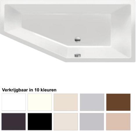 Afbeelding van Ligbad Beterbad Xenz Society Compact Rechts 170x75x44 cm (Verkrijgbaar in 10 kleuren)