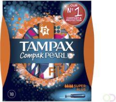 8x Tampax Compak Pearl Super Plus 18 stuks