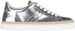 Argento Hogan Rebel Scarpe sneakers donna in pelle rebel r260