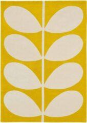 Orla Kiely - Yellow Stem 59306 Vloerkleed - 120x180 cm - Rechthoekig - Laagpolig Tapijt - Retro, Scandinavisch - Geel, Wit