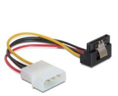 SATA (v) haaks - Molex (m) adapter met metalen klem - 0,15 meter