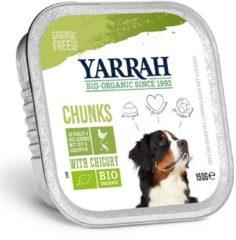 YARRAH DOG ALU BROKJES KIP / GROENTE MET CICHOREI IN SAUS GRAANVRIJ HONDENVOER #95; 12X150 GR