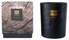 Zwarte PTMD Elements Fragrance Candle Elegant Cedar 450 gr