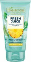 Bielenda - Fresh Juice peeling enzymatyczny rozświetlający z wodą cytrusową Ananas 150g