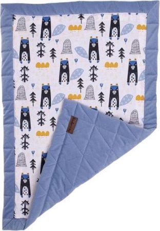 Afbeelding van Kinderhop Kinder Hop Deken Triangles Jeans 100 X 70 Cm Katoen/fluweel Blauw