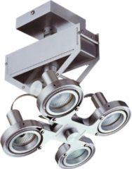 Roestvrijstalen Merkloos / Sans marque Artdelight Spot Koln 4 lichts H 28 cm aluminium