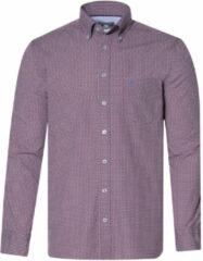 Bordeauxrode Campbell Casual overhemd met lange mouwen