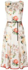 Stilvolles Kleid AVA mit edlem Blumenmuster Nicowa CREME / GREEN / RED