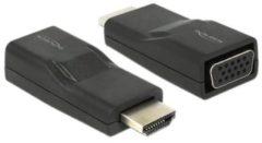 DeLOCK HDMI/VGA HDMI VGA Zwart kabeladapter/verloopstukje