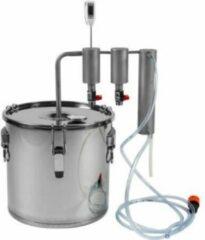Natuurlijkerleven 30L roestvrijstalen distilleerders pan met 2 kolomen