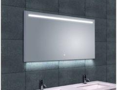 Transparante Saqu Deluxe Spiegel met LED verlichting Dimbaar 120x60 cm