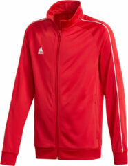 Rode Adidas Core 18 Trainingsjas - Maat 128 - Unisex - rood