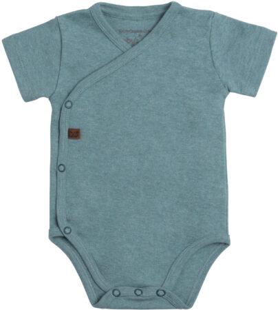 Afbeelding van Groene Baby's Only Rompertje Melange - Stonegreen - 68 - 100% ecologisch katoen - GOTS