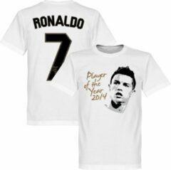 Witte Retake Ronaldo Player of the Year T-Shirt - M