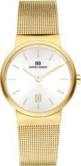 Gouden Danish Design watches edelstalen dameshorloge Tåge Gold Small IV05Q971