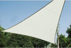 Creme witte Velleman SCHADUWDOEK - ZONNEZEIL - DRIEHOEK 5 x 5 x 5m, kleur: crème