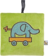 Fashy Pittenzak met koolzaad vulling groen met olifant