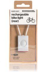 Bookman Block Fietsverlichting - LED Achterlicht - Oplaadbaar via USB - Compact Design - Wit