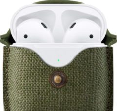 Twelvesouth TWELVE SOUTH AirSnap for AirPods case twill olive groen Airpods hoesje