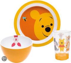 Gele Zak designs Zak! Designs Pooh Big Face Ontbijtset - 3-delig - Geel