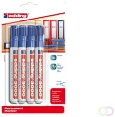Bruna Viltstift edding 3000 rond blauw 1.5-3mm blister a 4st