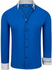 Blauwe One Redox Italia heren overhemd sax