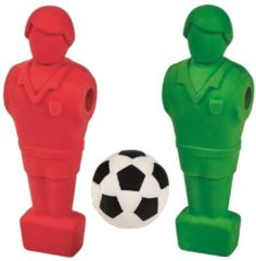 Moses set gummen Kick It 8 cm junior rood/groen 3-delig