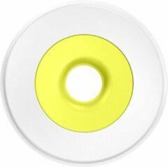 LESSEAU Travel soap dispenser Mellow Yellow met Lemon zeepnavulling (Startpakket: traditionele harde, vegan handzeep met zeepdispenser)