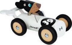 Witte Janod Spirit Auto Bernard speelgoedauto van hout
