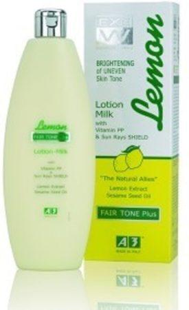 Afbeelding van A3 Cosmetics A3 Lemon Brightening Lotion Milk Fair Tone Plus 400 ml