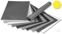 Folia transparant vliegerpapier pak van 25 vellen, lichtgeel